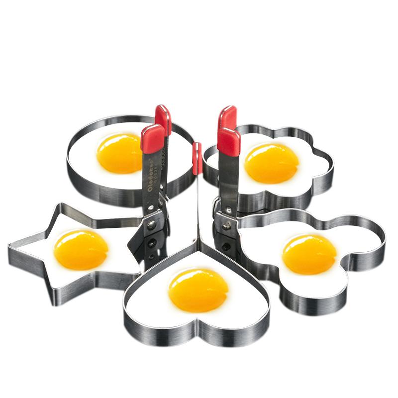 歐樂多煎蛋模具 不粘304不鏽鋼荷包蛋模型愛心形煎雞蛋模具煎蛋器