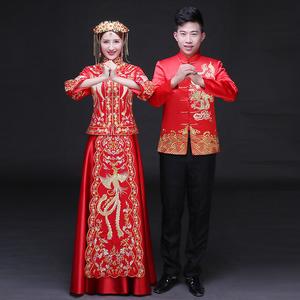秀禾服龙凤褂2016新款新娘中式结婚礼服嫁衣敬酒服旗袍秀和服秋季