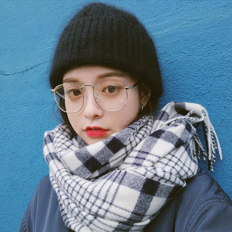 韩版文艺复古方形大框眼镜架男女款防辐射平光镜金属圆脸近视眼镜