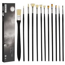 Black Knight Water Chalk set Fine Arts professional Black Gold version brush inclined peak flat head set hook line water chalk brush Acrylic Fan pen oil brush gift box students with watercolor pen