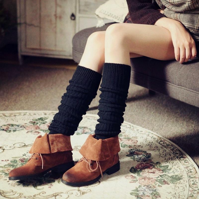 加厚高通长款袜子女个性冬季黑色可爱运动瘦腿流苏羊毛大码灰色中
