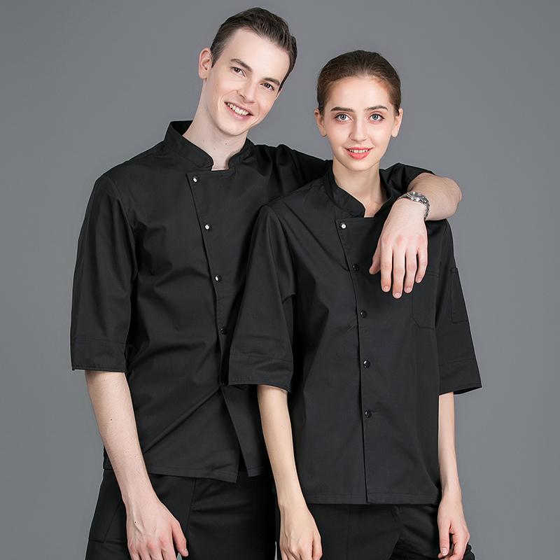 七分袖厨师服面包店工作服蛋糕师制服食堂面点师工装裱花烘焙服装