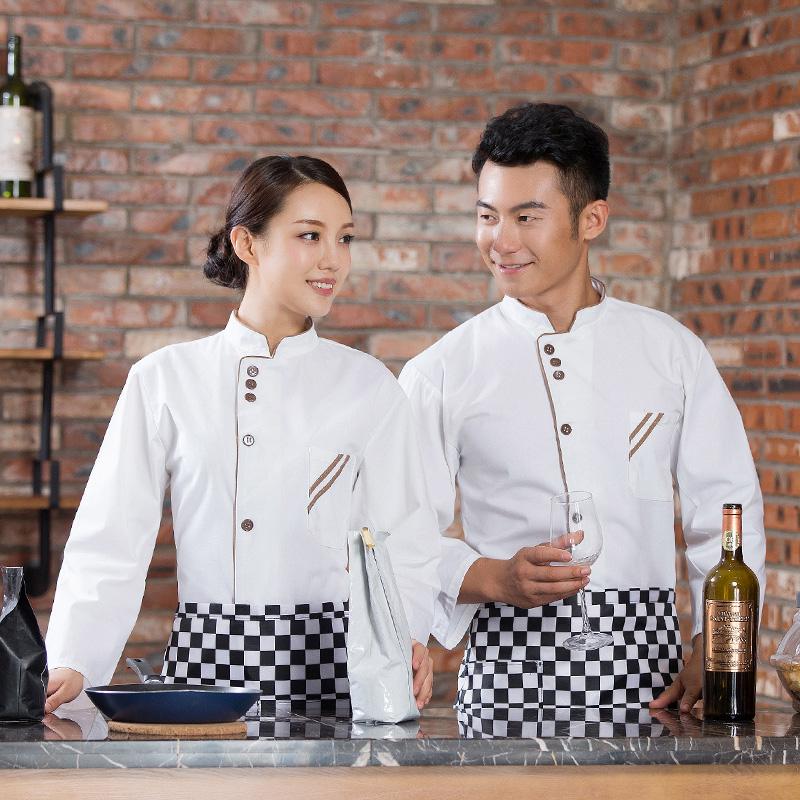 厨师服长袖蛋糕店工作服甜品糕点师制服面包师工装烘焙师秋冬服装