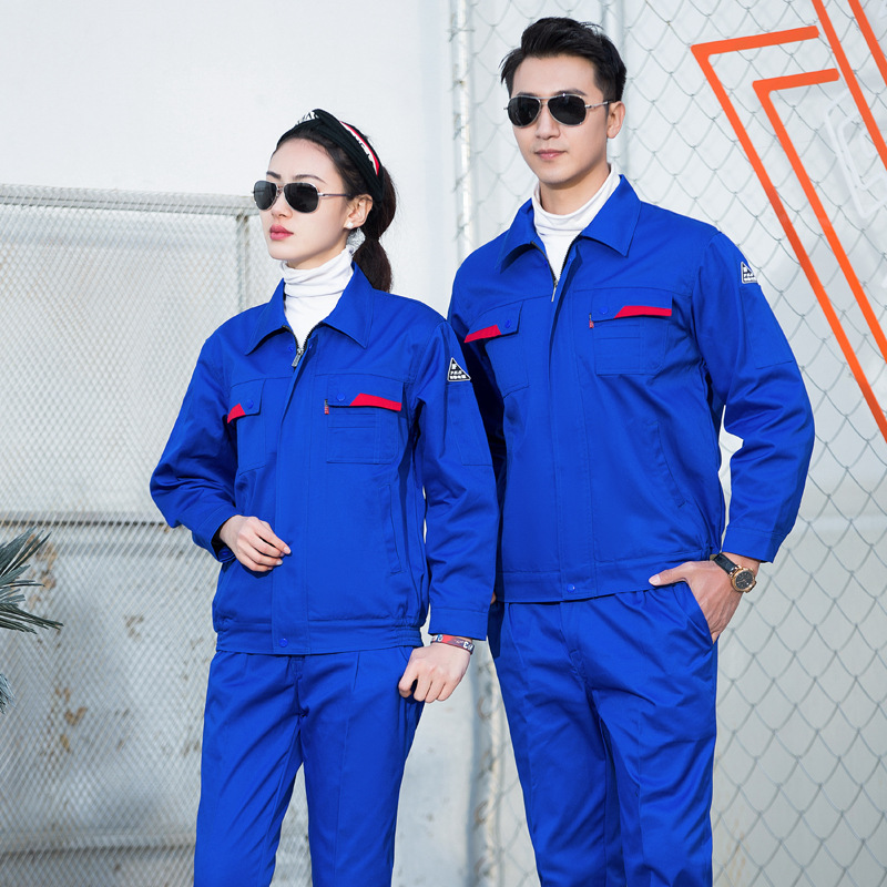 Hydraulic power station engineering clothing electrician safety anti-static clothing long sleeve work clothes gas station uniform gas dispenser clothing