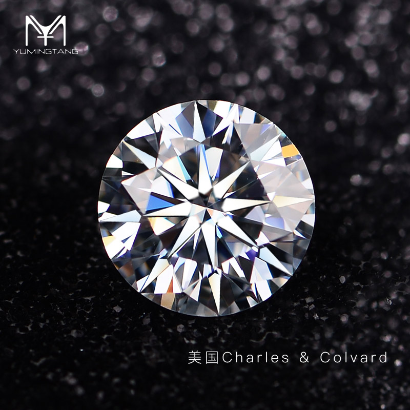 Yumingtang eight heart eight arrow C & C mosang stone naked stone g color D color mosang diamond naked diamond with ID card customization