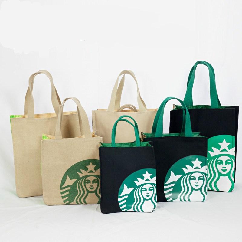 饭盒袋便当包厚实耐用帆布便当包手拎袋学生手提书包购物袋环保袋