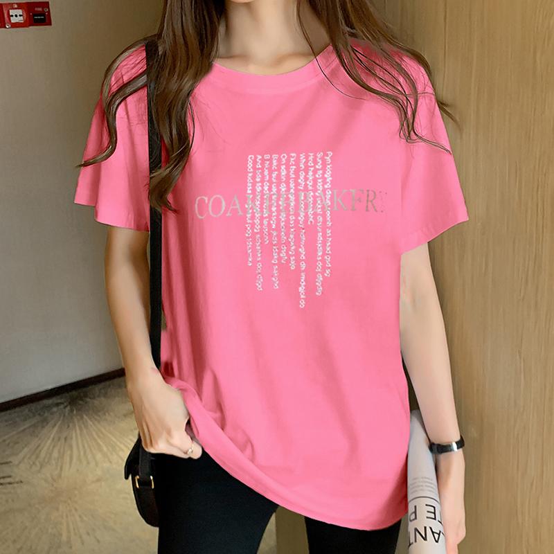實拍40支純棉奧代爾大碼女裝2020夏裝趣味印花寬松短袖T恤女