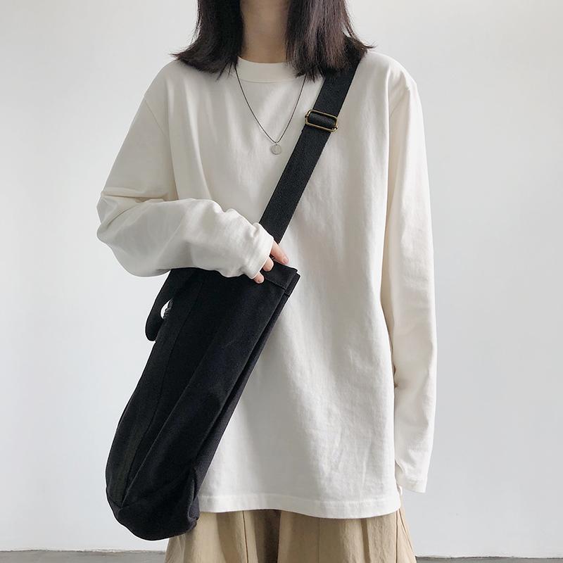 官图实价 26%棉74%聚酯纤维 2020秋季宽松圆领纯色卫衣女潮