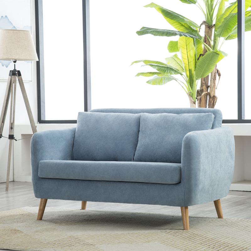 北欧布艺小户型沙发省空间两人双人简约公寓三人位沙发小客厅拆洗