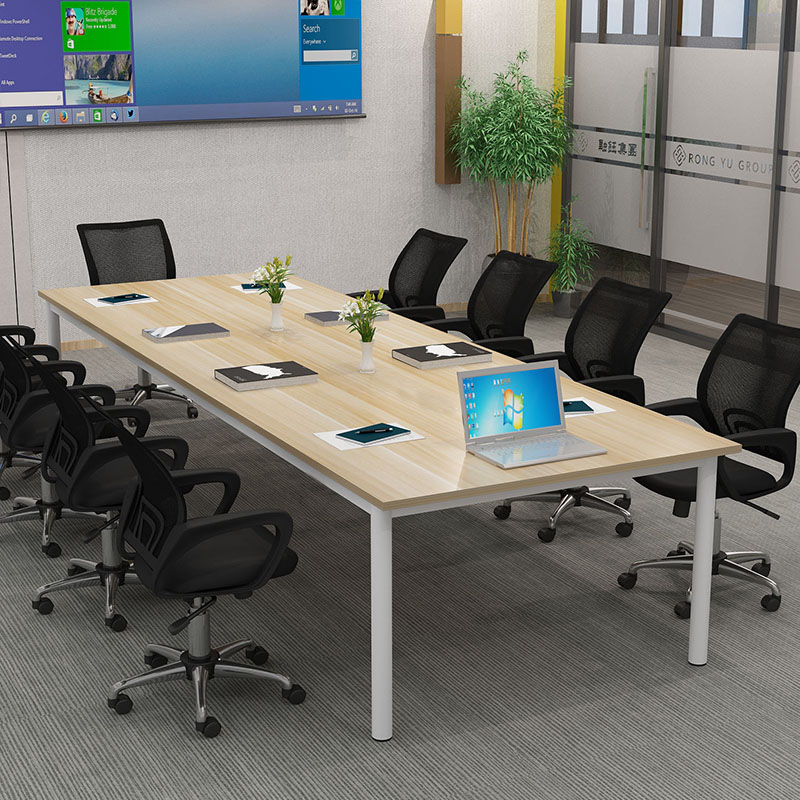 Simple conference table long table office furniture simple modern staff desk rectangular training table negotiation table