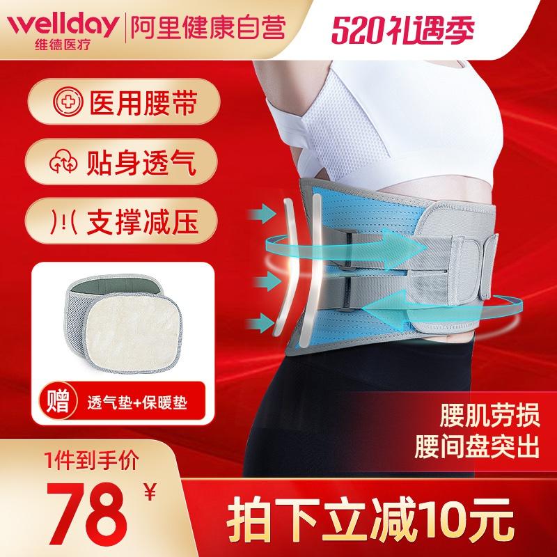Weide medical belt protector for lumbar disc herniation