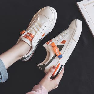 小白鞋女夏季薄款帆布鞋女2020新款运动板鞋女韩版ulzzang饼干鞋图片