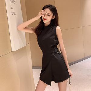网红小个子女装2019夏季新款时尚气质百搭收腰显瘦短款连体裤子女