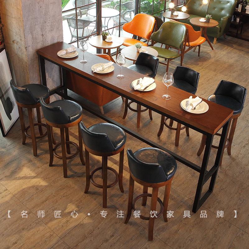 Бар бар обеденный стол железо стул сочетание молочный чай магазин десерт магазин семь дней затем прибыль магазин бар стол дерево бар стул