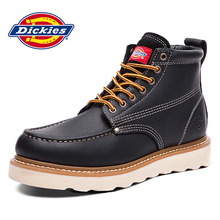Dickies Men's Shoes Winter Warm Leather Leisure Martin Boots High Up and Suede Cotton Shoes Workwear Boots Shoes Military Boots