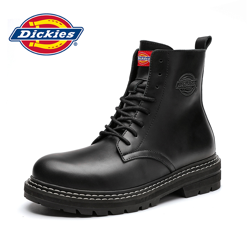 Dickies Martin boots men 2020 winter new high-top 8-hole tooling boots British style leather knight boots men