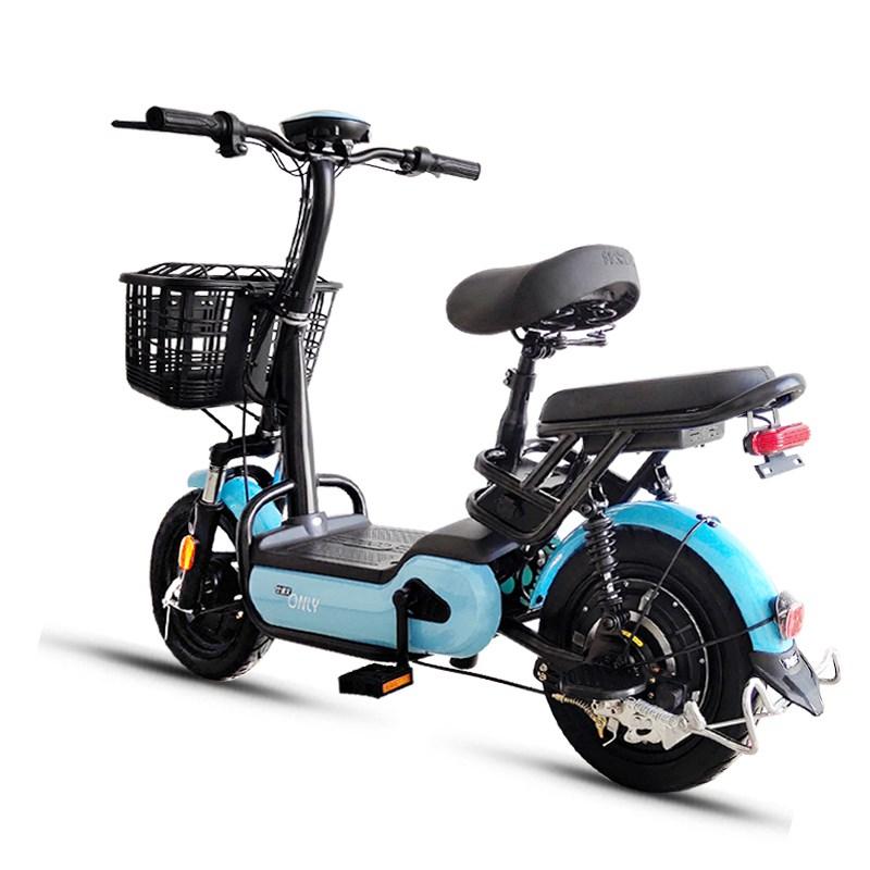 比德文小型电动车男女电瓶车48V新国标电动自行车代步助力车包邮