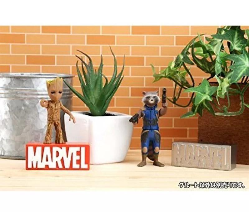 正版盒装TOMY TOMICA多美卡漫威系列合金小人偶树人格鲁特 和浣熊