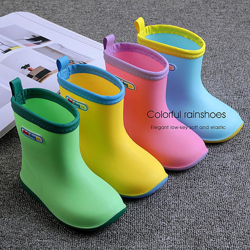 日本儿童雨鞋防滑宝宝雨靴小童男童女童四季水鞋儿童加绒雨鞋水靴