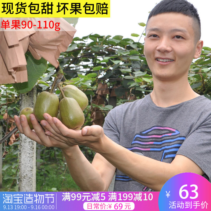 四川都江堰新鲜大果红心猕猴桃奇异果水果胜蒲江黄心绿心5斤包邮