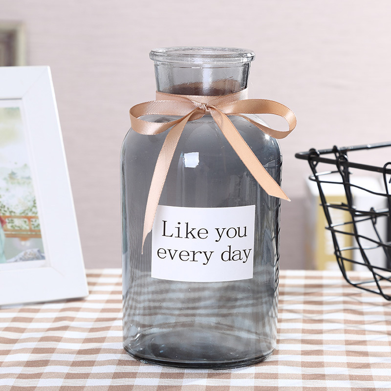 Европейский минималистский прозрачный ваза творческий стекло гостиная украшение украшение вода культура цветок цветок цветок маленький прозрачный новый