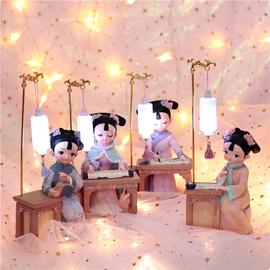 故宫娃娃俏格格宫廷风古装人偶中国风礼物送老外北京绢人玩偶摆件