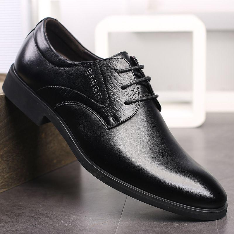 2020品牌夏季飞駝 苹果时尚皮鞋加绒系带商务正装皮鞋男男鞋
