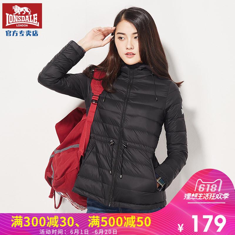 Дракон Лев Dell Outdoor пуховик Женская легкая зима корейская версия удерживающий тепло капюшон Вниз пальто приталенный спортивный куртка
