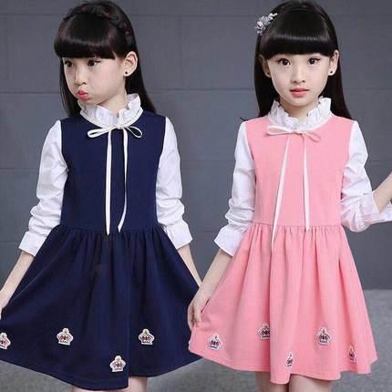 10女中大童连衣裙春秋童装儿童新款公主裙子宝宝洋气长袖学生衣服