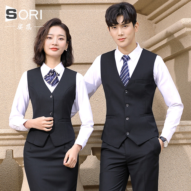 Professional suit vest suits KTV waiter hotel men's girl with a businesswood bank horse sequester uniform