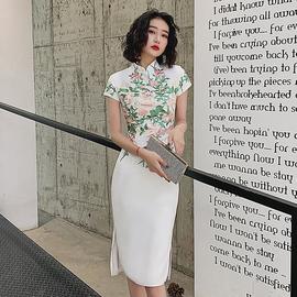 晚礼服女2020新款时尚气质宴会中式改良旗袍礼服鱼尾修身平时可穿