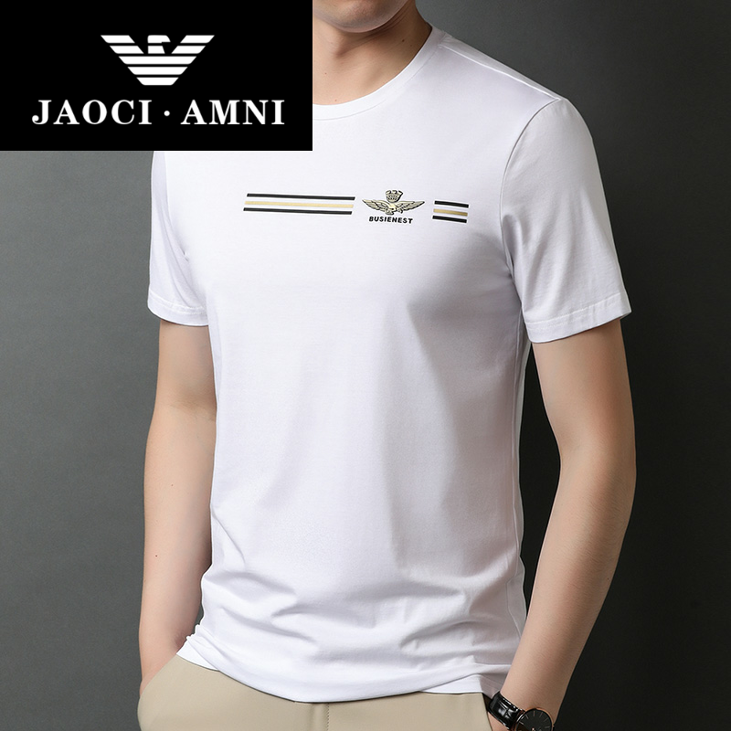 Official authentic for Armani brand counter summer new t-shirt mens short sleeve T-shirt round neck cotton