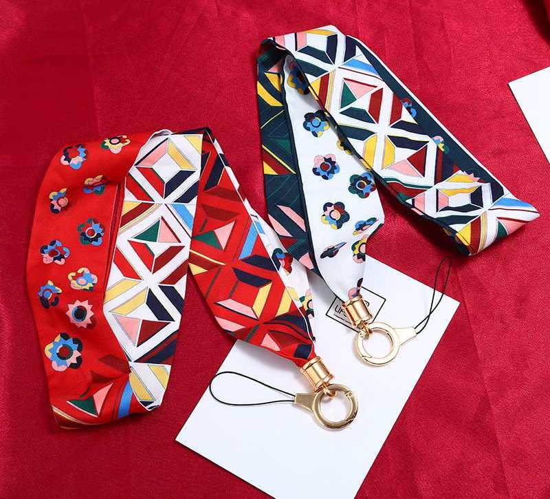 (高品质不勒脖)通用手机挂脖挂绳丝巾缎带苹果挂链创意长吊绳宽