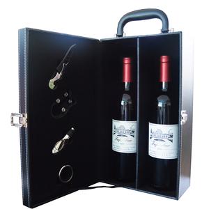 领100元券购买【扫码价668】双支红酒礼盒 干红葡萄酒2支装正品送礼佳选