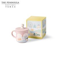 中国香港半岛精品店门僮熊陶瓷杯粉红色