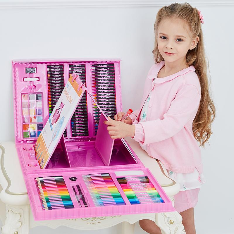 绘画套装儿童创意生日礼物小男女孩小学生幼儿园文具画画彩笔玩具