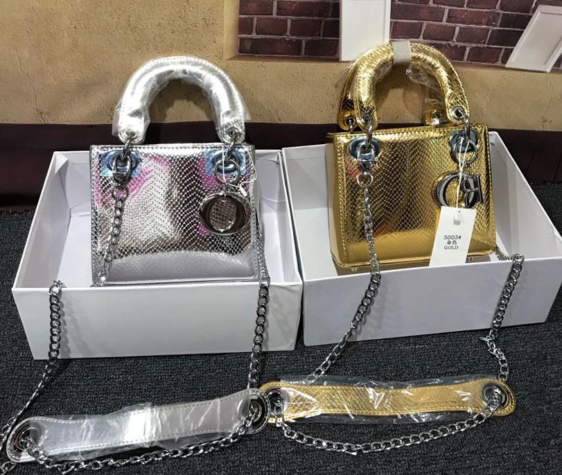Bai Yiyun 2019 new fashion versatile mini small square bag Lingge bag single shoulder diagonal handbag small bag