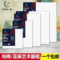 新中式玄關走廊裝飾畫過道盡頭金絲立體掛畫豎款抽象山水手繪油畫