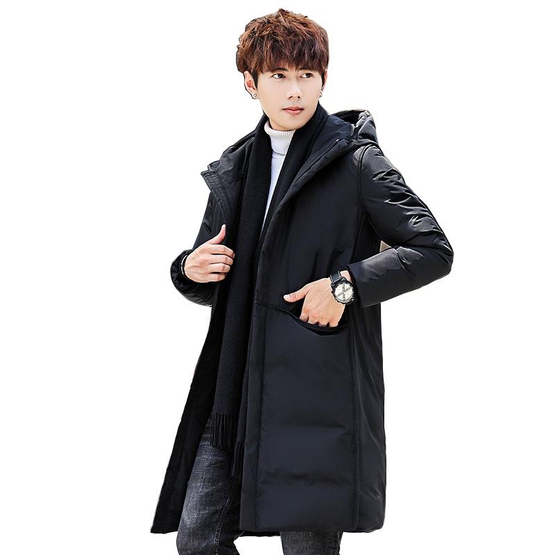 2020新款羽绒服男女通用情侣中长款加厚韩版修身潮流冬装保暖外套