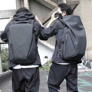 男士背包休闲旅游旅行双肩包15.6寸电脑包潮牌书包男简约时尚潮流