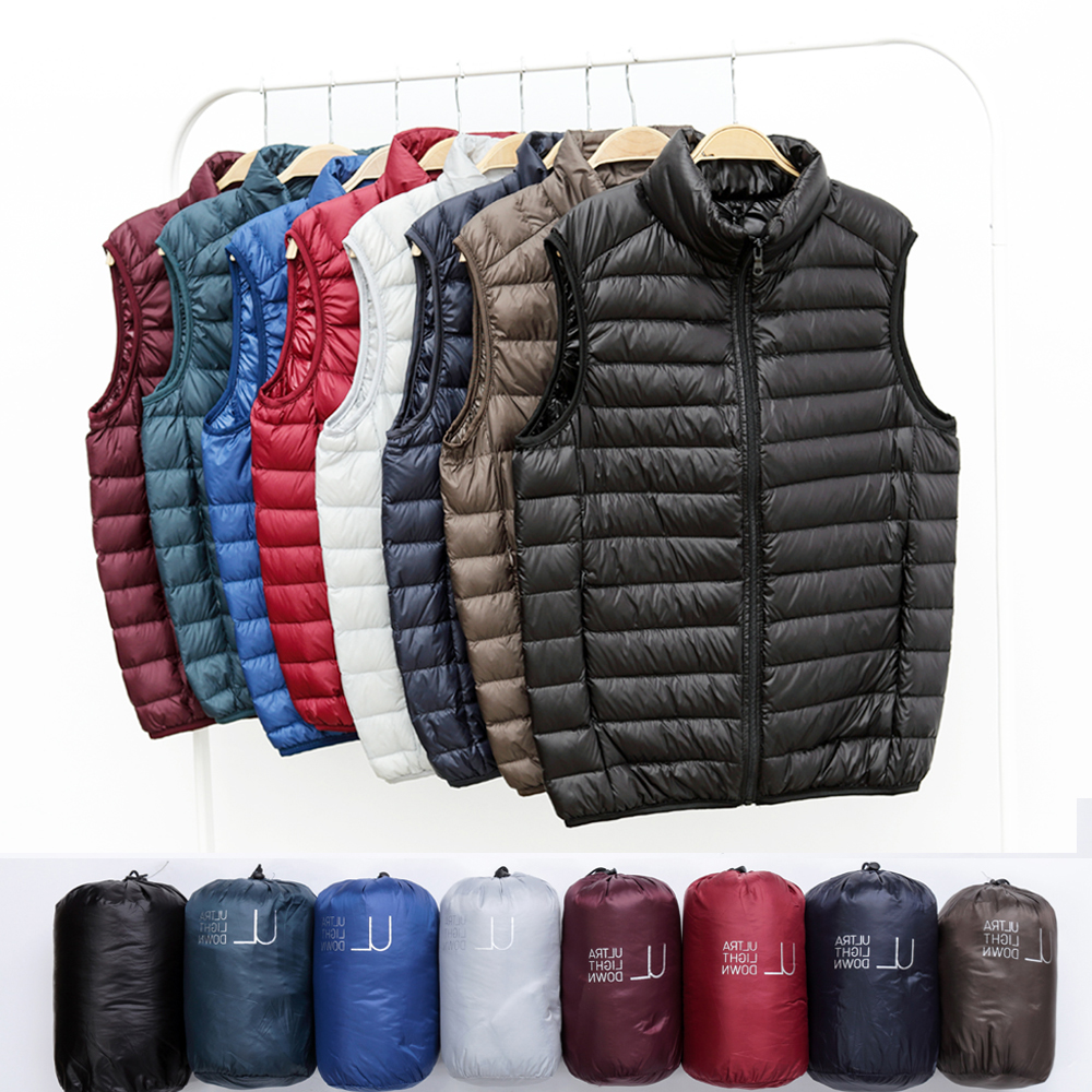 Fall / winter 2020 new lightweight down vest for mens ultra light down vest camshoulder large down jacket for lovers