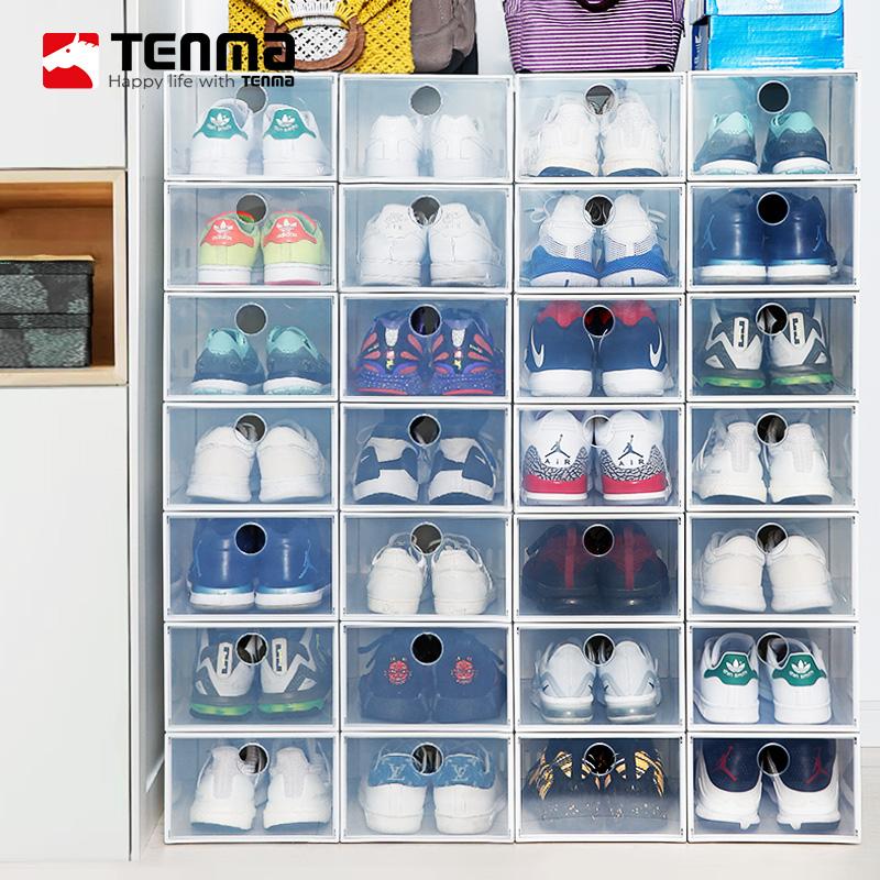 tenma天马株式会社透明鞋盒加厚塑料男女简易鞋盒6个装券后179.00元