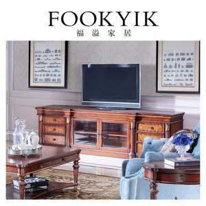 福溢家居意大利家具翡冷翠客厅电视柜意式地柜住宅家具卧室电视柜