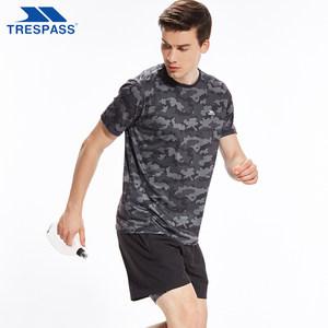 英国 趣越Trespass 迷彩色 男户外运动速干T恤/短裤 主图