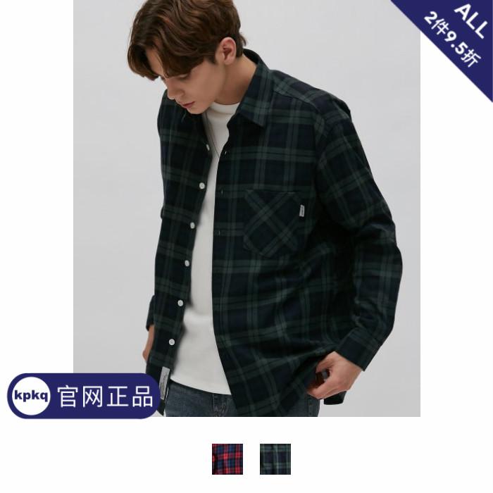 【韩国代购直邮FILLUMINATE】Unisex男女同款Pursue格子衬衫