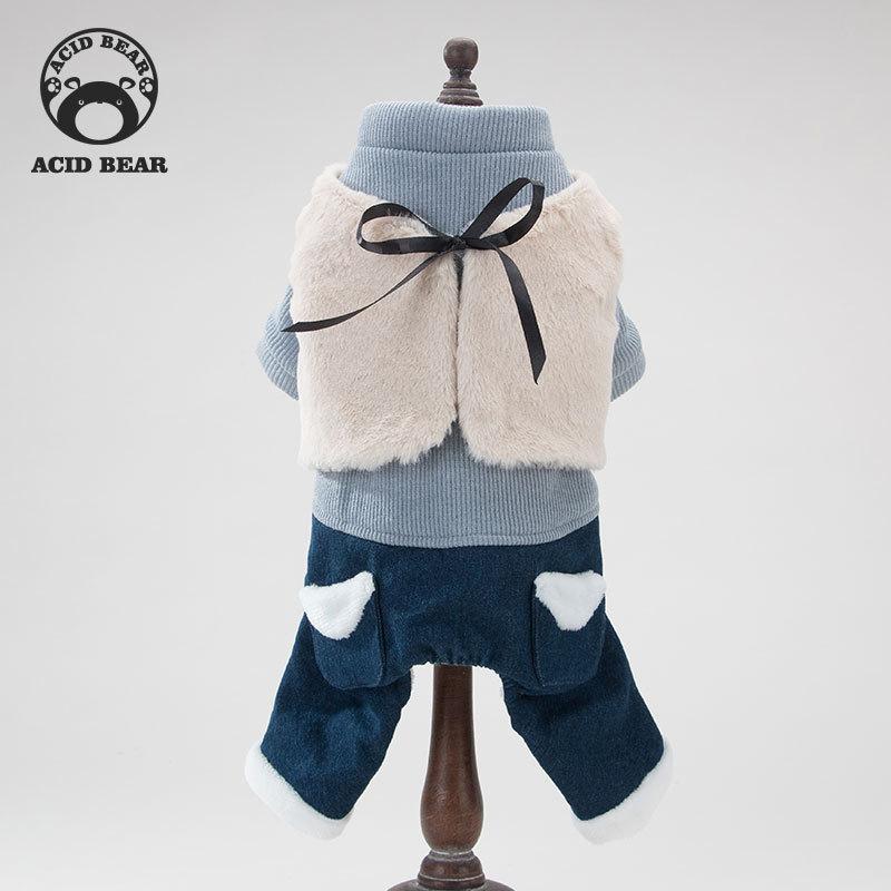 新款狗狗衣服宠物四脚棉衣泰迪比熊小型犬保暖加厚服装秋冬装服饰
