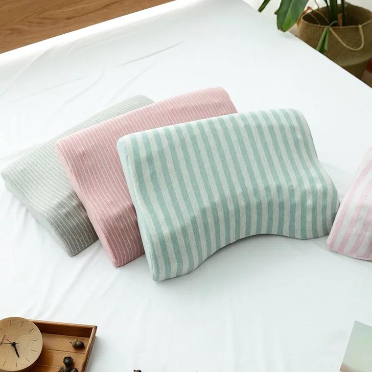 【成人款】日本慢回弹太空记忆枕 单人蝶形夏季成人学生护颈枕