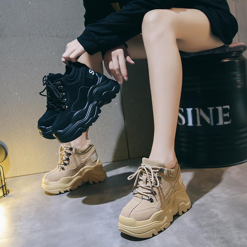 包邮内增高2019秋季新款韩版老爹运动鞋