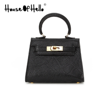 House of Hello classic Python leather carrying one shoulder mini bag 16kk Kelly bag