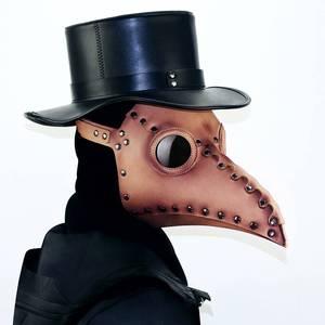 领2元券购买蒸汽朋克中世纪瘟疫医生cos游戏动漫人物头套乌鸦长鸟嘴面具男女